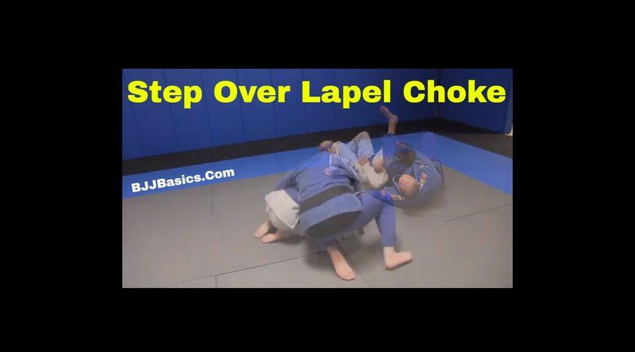 Stepover lapel choke