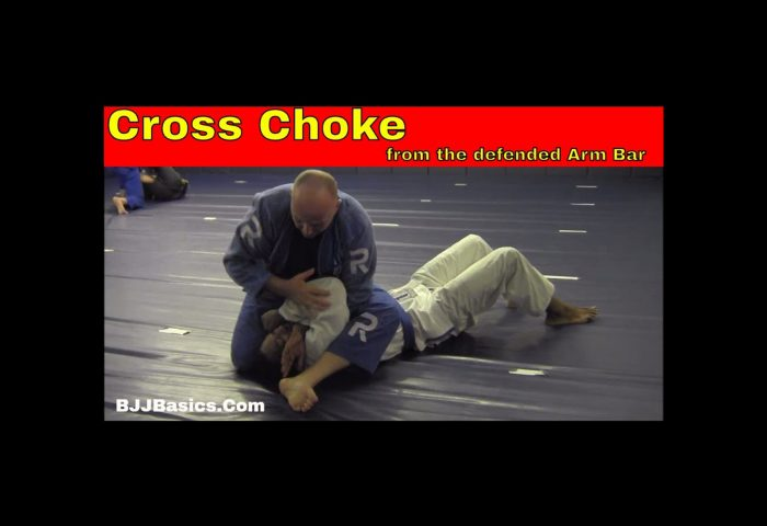 Cross Choke from Defended Arm Bar