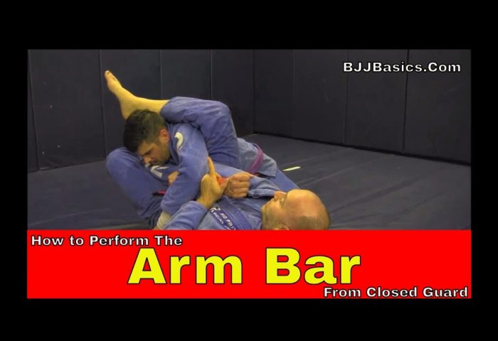 How to perform the Arm Bar from Closed Guard