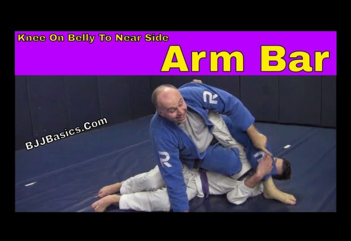 Knee on Belly to Near Side Arm Bar