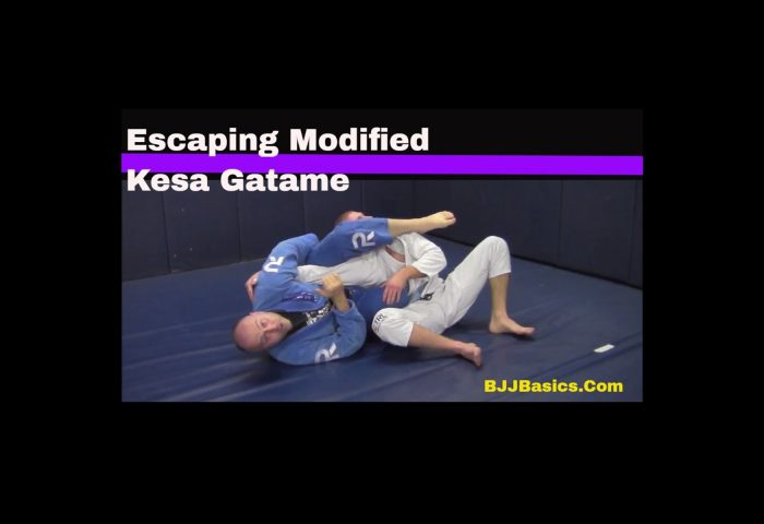 Modified Kesa Gatame Escape to Arm Lock