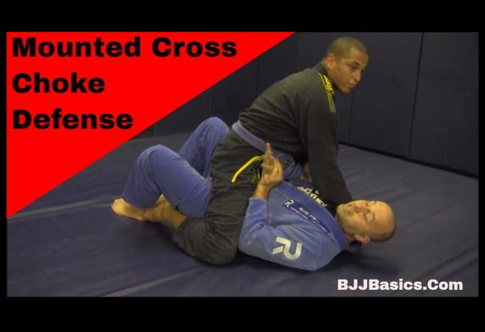 Mounted Cross Choke Defense