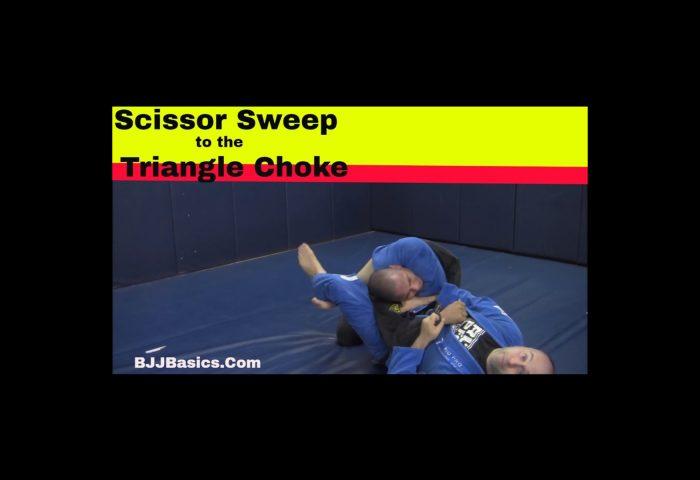 Scissor Sweep to Triangle Choke