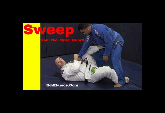 Sweep from Open Guard Sickle Sweep