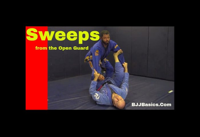 Sweeps from Open Guard Tripod Sweep