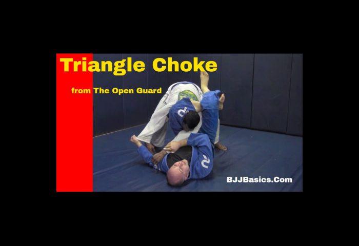 Triangle Choke from Open Guard